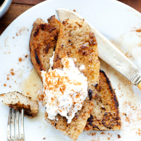 Egg Nog Flavored Vegan French Toast