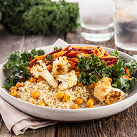 Roasted Cauliflower Chickpea Buddha Bowl