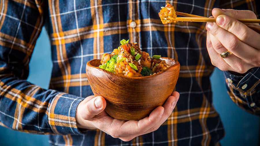 Crispy General Tso Tofu Bowl