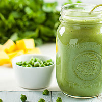 Minty Green Garbanzo Bean Smoothie