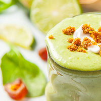 Key Lime Pie Smoothie with Coconut Whipped Cream