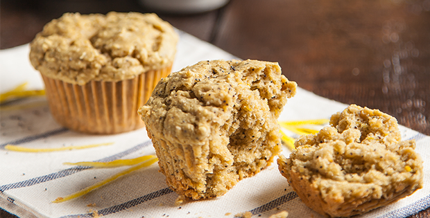 Lemon Poppyseed Vegan Muffins