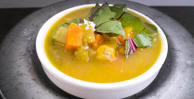 Gluten Free & Vegan Yellow Split Pea Soup