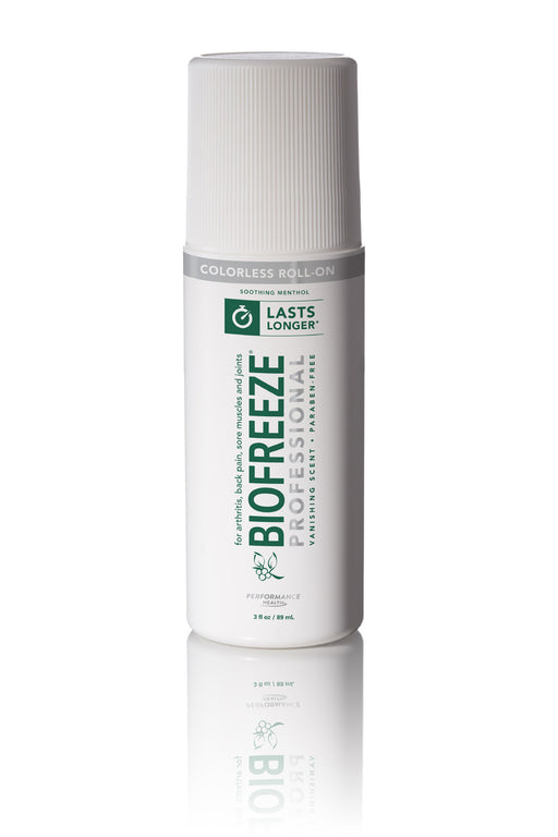 Biofreeze Professional 3 oz Roll On (Colorless) - Spa & Bodywork Market