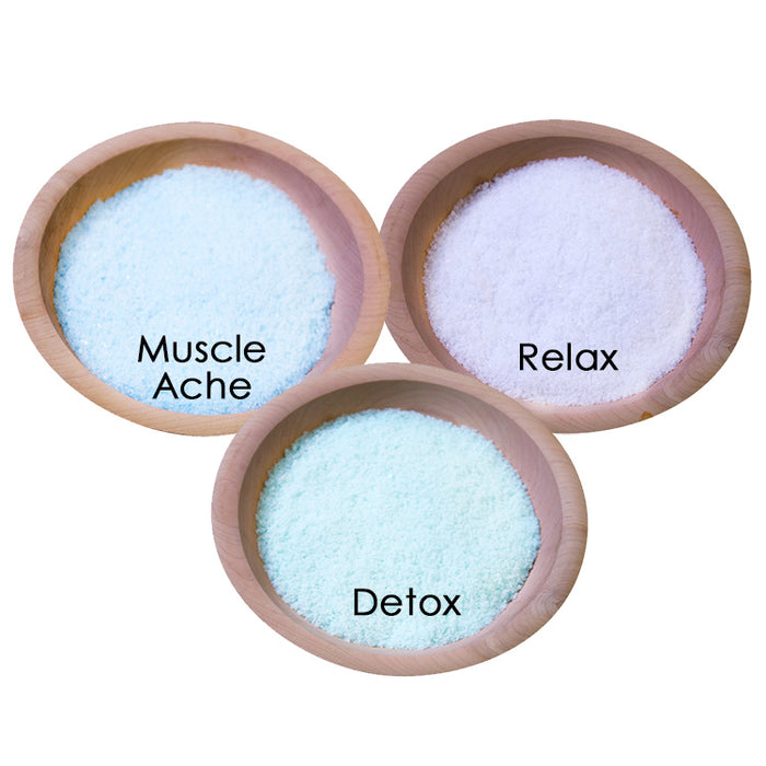 Mineral Bath Salt Sampler - Muscle Ache, Detox and Relax - Spa & Bodywork Market