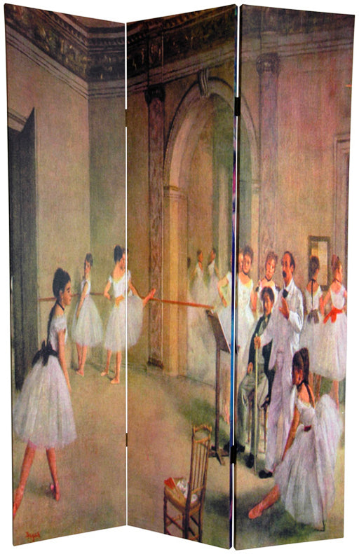 Degas' Dancers Art Print Screen (Canvas/Double Sided) - Spa & Bodywork Market