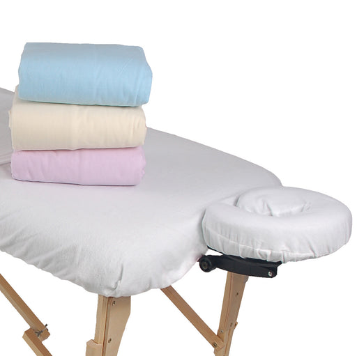 Flannel Face Cradle Cover - Fitted - Spa & Bodywork Market