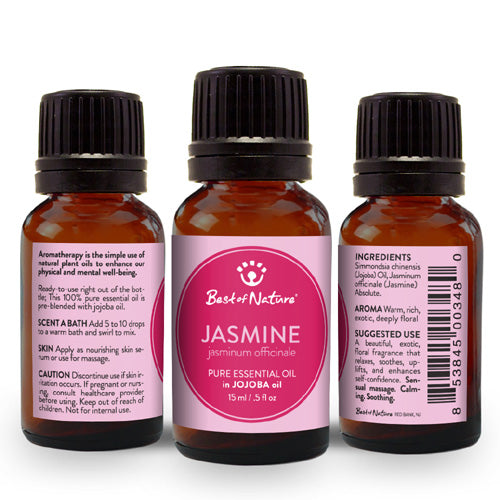Jasmine Absolute Essential Oil blended with Jojoba Oil - Spa & Bodywork Market