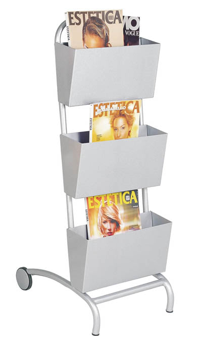 Waiting Room Magazine Rack - 3 Tier - Spa & Bodywork Market