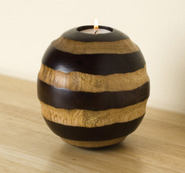 Zebra Design - Tea Light Candle Holder - Spa & Bodywork Market