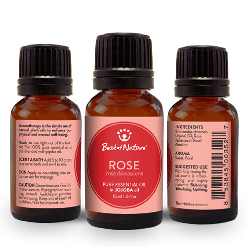 Rose Absolute Essential Oil blended with Jojoba Oil - Spa & Bodywork Market