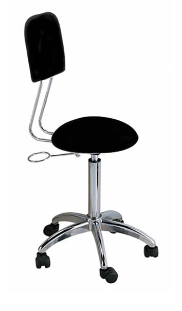 Esthetician Rolling Stool with Back - Spa & Bodywork Market