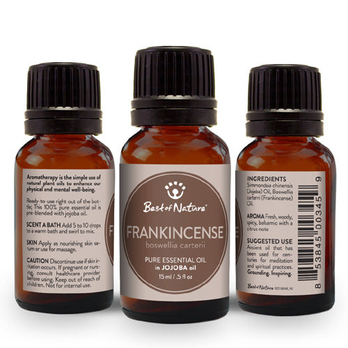 Frankincense, Olibanum Essential Oil blended with Jojoba Oil - Spa & Bodywork Market