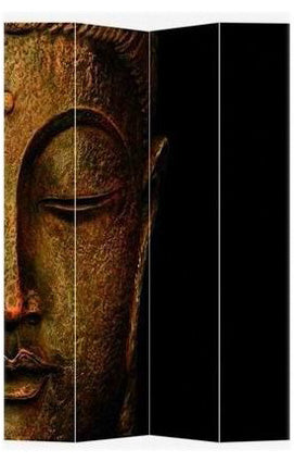 Buddha and Ganesh Art Print Screen (Canvas/Double Sided) - Spa & Bodywork Market