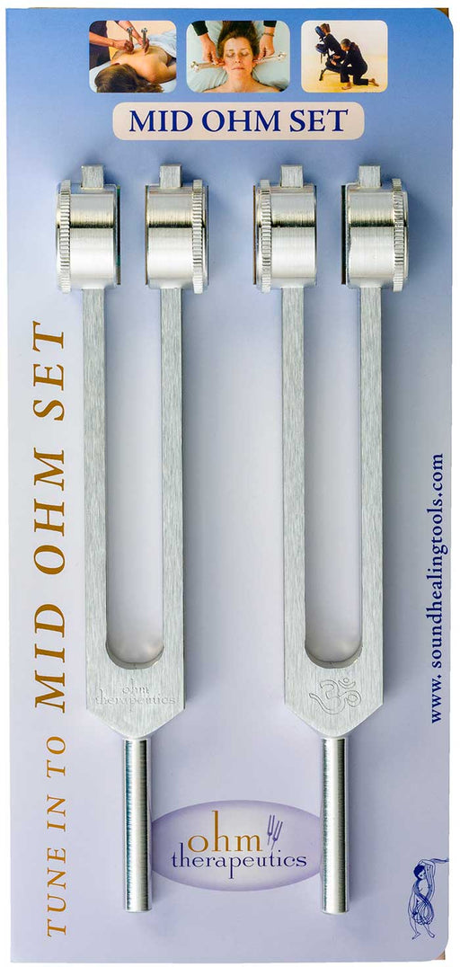 Mid Ohm Tuning Fork Set -  (136.1 HZ EA) - Practitioner Starter Set - Spa & Bodywork Market