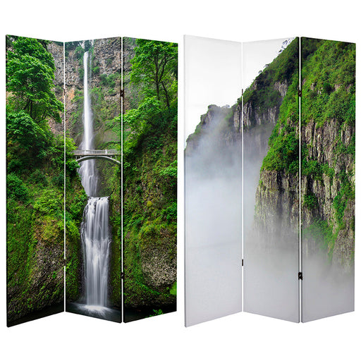 Mountaintop Waterfall Art Print Screen (Canvas/Double Sided) - Spa & Bodywork Market