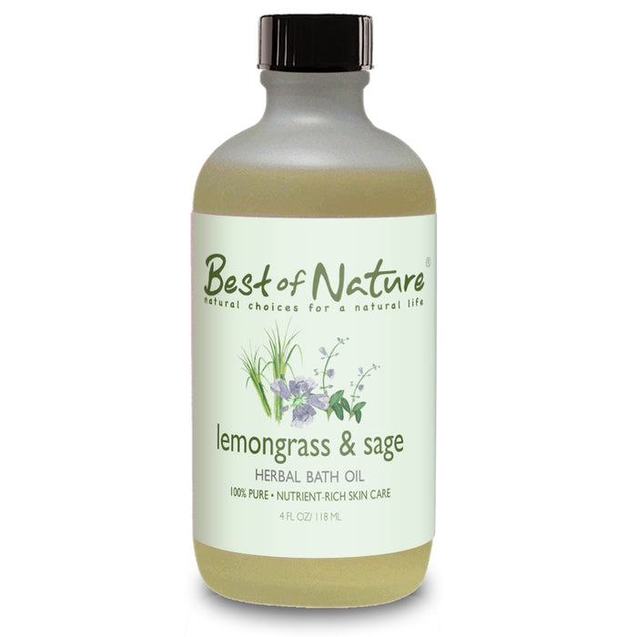 Lemongrass & Sage Bath Oil - Spa & Bodywork Market