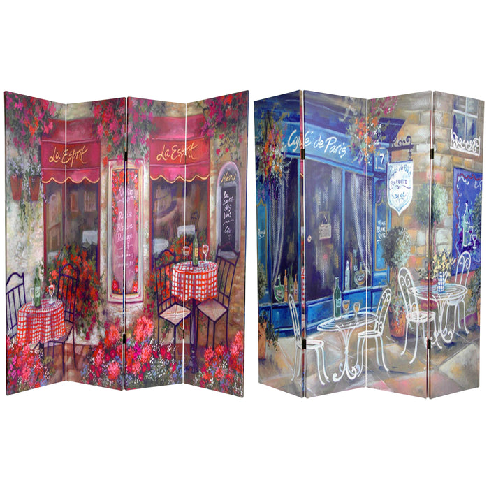 Parisian Cafe Art Print Screen (Canvas/Double Sided) - Spa & Bodywork Market