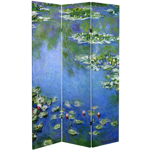 Monet Lilies / Garden at Giverny Art Print Screen (Canvas/Double Sided) - Spa & Bodywork Market