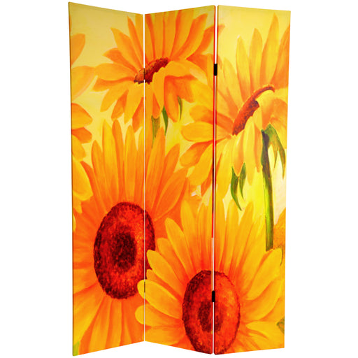 Sunflowers and Poppies Art Print Screen (Canvas/Double Sided) - Spa & Bodywork Market