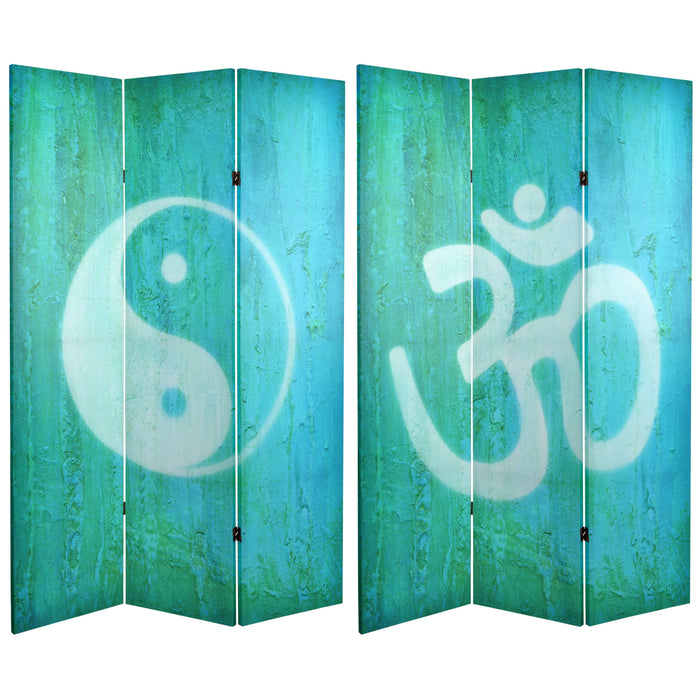 Yin Yang/Om Art Print Screen (Canvas/Double Sided) - Spa & Bodywork Market