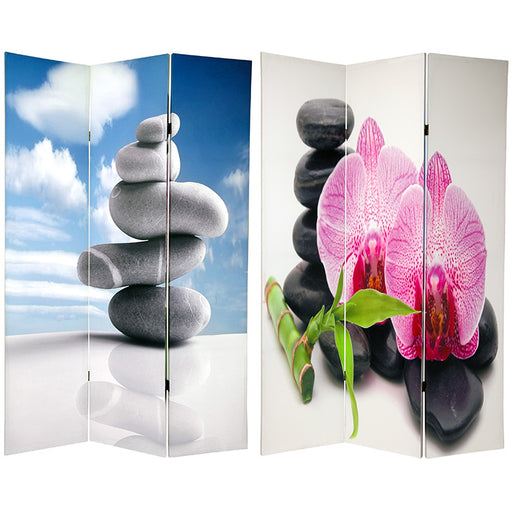 Zen Art Print Screen (Canvas/Double Sided) - Spa & Bodywork Market