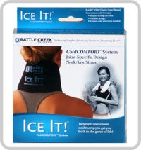 "Ice It! Cold Comfort - Neck/Jaw/Sinus System - 4.5"" x 10"" - Spa & Bodywork Market"