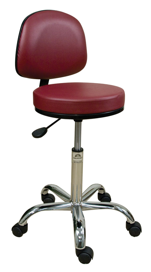 Professional Stool with Backrest - Chrome Base - Spa & Bodywork Market