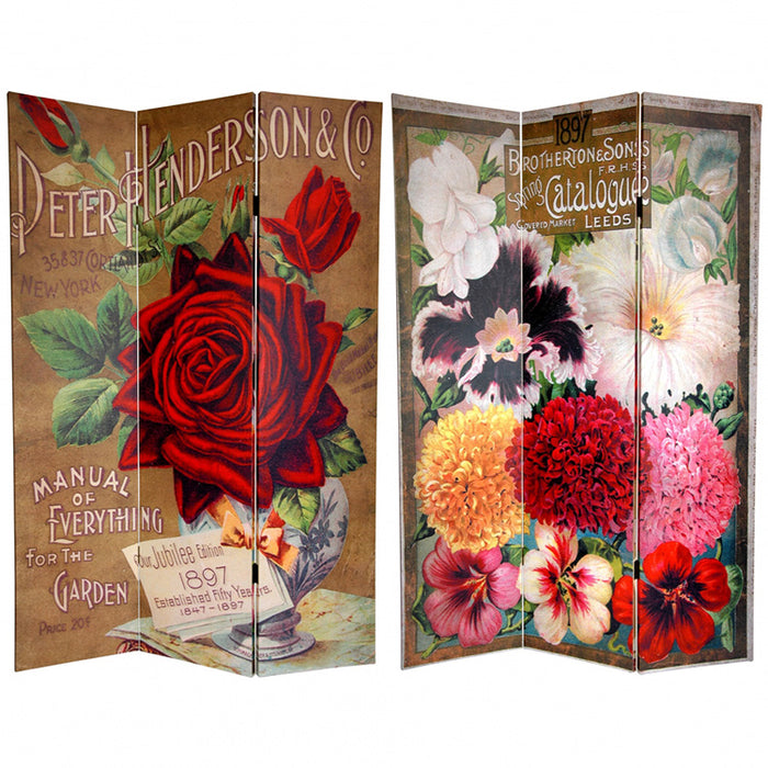 Vintage Flowers Art Print Screen (Canvas/Double Sided) - Spa & Bodywork Market