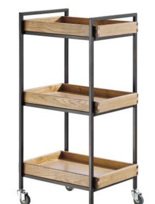 Wooden Esthetician's Trolley - 3 Tray Style Shelves - Spa & Bodywork Market