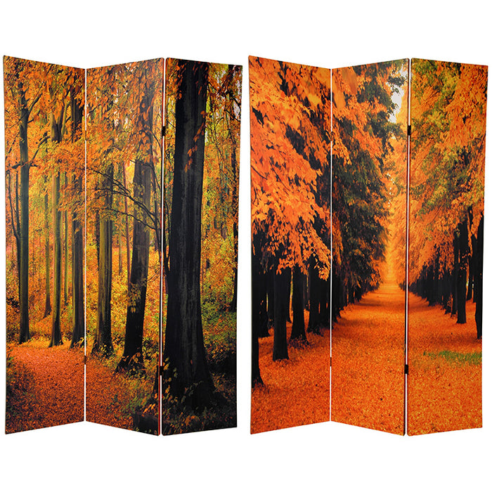Autumn Trees Art Print Screen (Canvas/Double Sided) - Spa & Bodywork Market