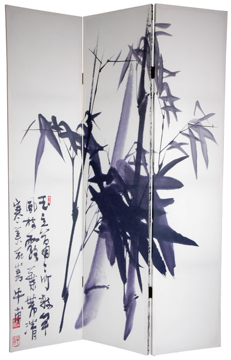 Bamboo Calligraphy Art Print Screen (Canvas/Double Sided) - Spa & Bodywork Market