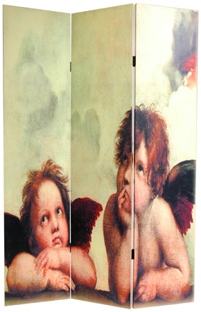 Cherubs & Creation of Adam Art Print Screen (Canvas/Double Sided) - Spa & Bodywork Market