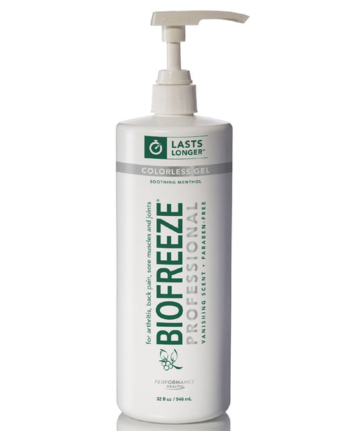 Biofreeze Professional 32 oz Gel Pump (Colorless) - Spa & Bodywork Market
