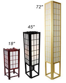 Window Pane Shoji Lamp - Spa & Bodywork Market