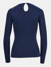 Built in bra luxury long sleeve t shirt top navy Admiral