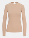 Built in bra luxury long sleeve top Beach