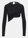 Jet black long sleeve built in bra