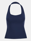 Built in bra luxury top t shirt top navy