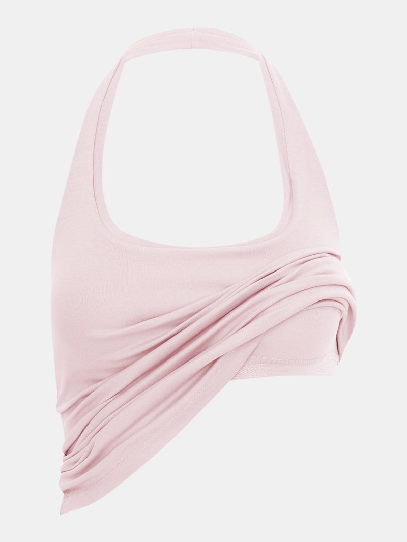 Built in bra luxury top t shirt top pink Petal