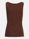 Built in bra luxury top t shirt top brown Chocolate