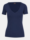 Built in bra luxury top t shirt top navy blue Admiral