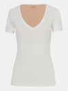 Built in bra luxury top t shirt top white Cloud