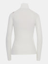 Built in bra luxury top t shirt turtleneck top white Cloud