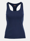 Built in bra luxury top t shirt racer back top navy blue Admiral