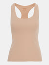 Built in bra luxury top t shirt racer back top beige nude Beach
