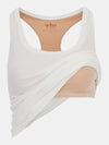 Built in bra luxury top t shirt racer back top white Cloud