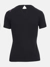 Built in bra luxury top t shirt black Jet