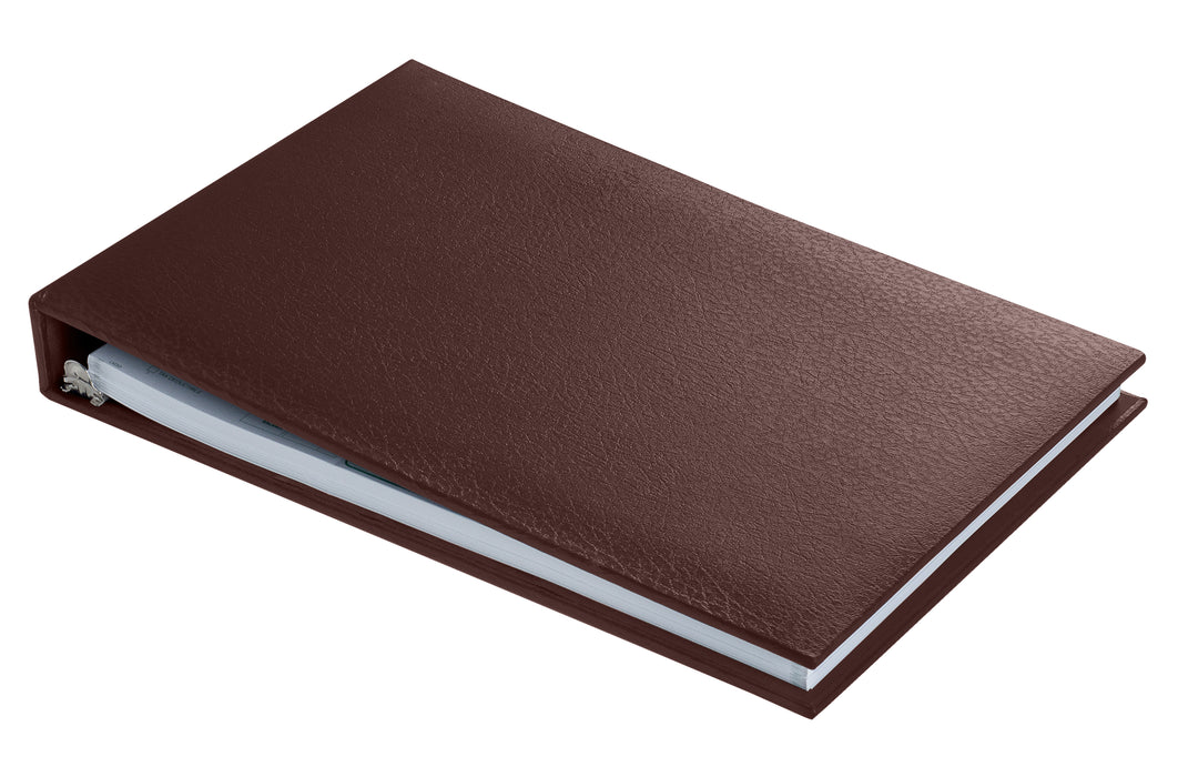 Executive 7 Ring Check Binder - Brown - Aimoh