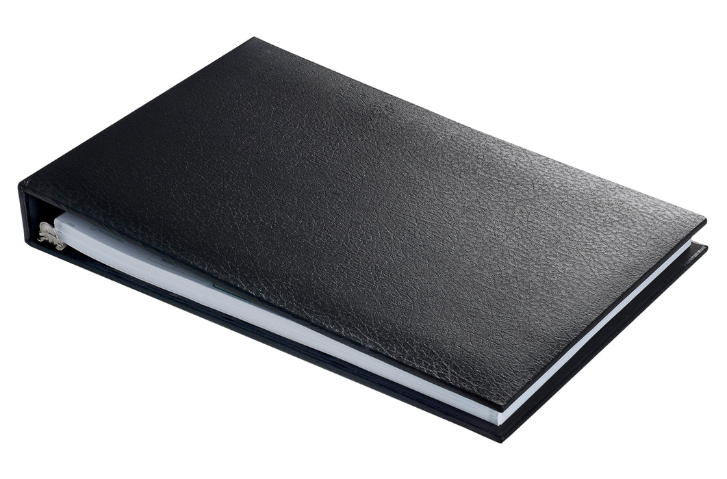 Executive 7 Ring Check Binder - Black